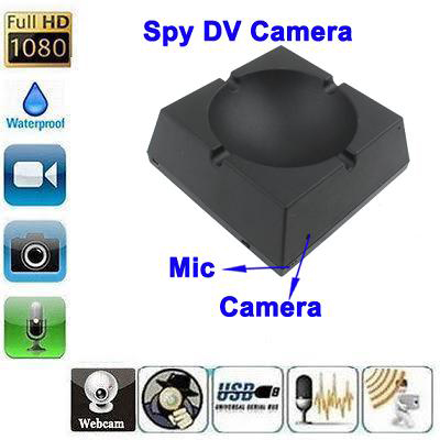 SPY HIDDEN ASHTRAY CAMERA 20 HOURS RECORDING
